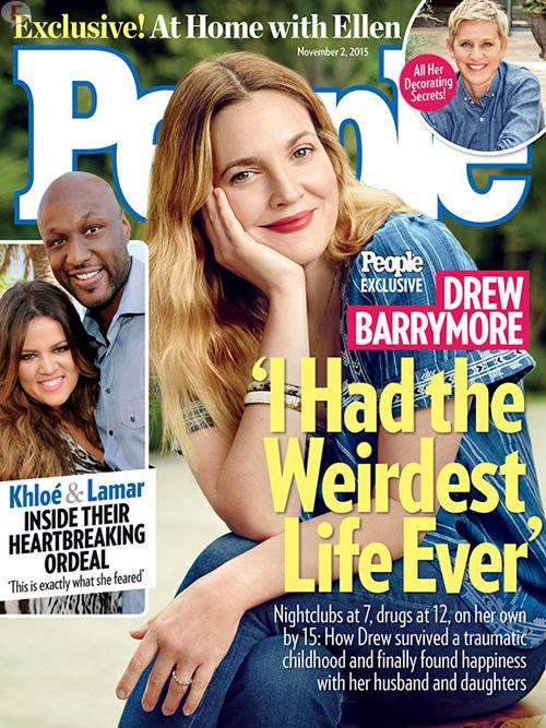 Drew Barrymore y su extraña vida [People]