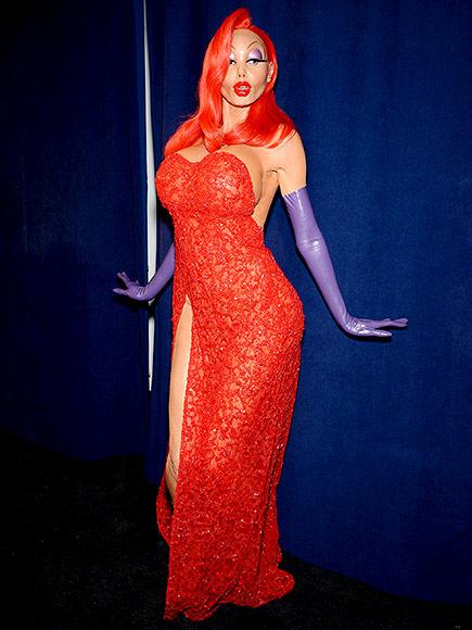 Heidi Klum: Jessica Rabbit en Halloween
