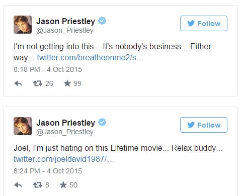 Tori Spelling reveló que se acostó con Jason Priestley