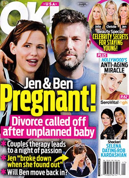 Jen Garner y Ben Affleck embarazados!! [OK!]