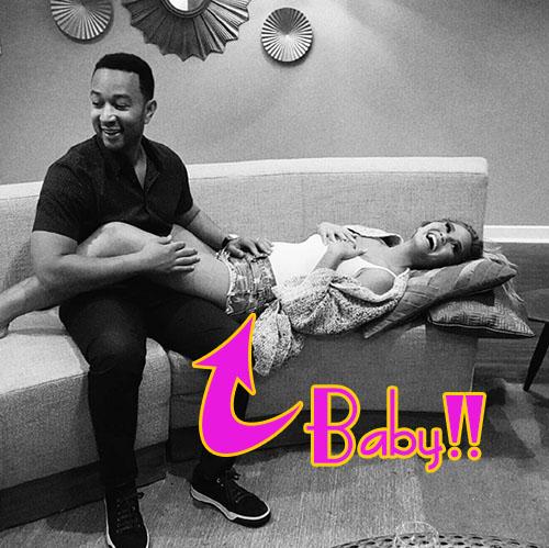Chrissy Teigen embarazada!! John Legend será padre!