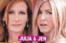 Julia Roberts y Jennifer Aniston se divorcian! [Intouch]