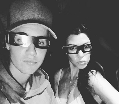 Justin Bieber y Kourtney Kardashian