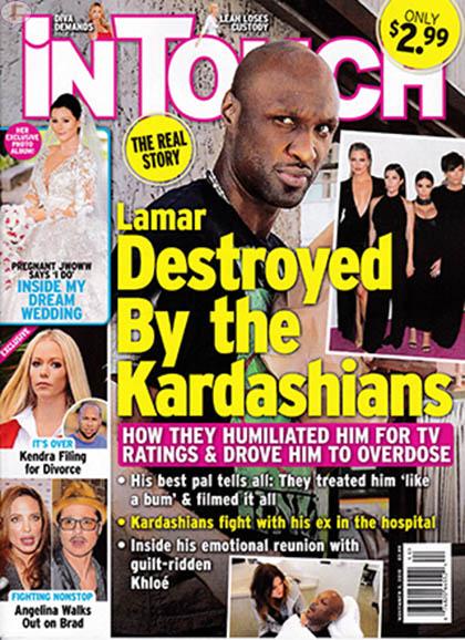 Lamar Odom destruido por las Kardashians! [Intouch]