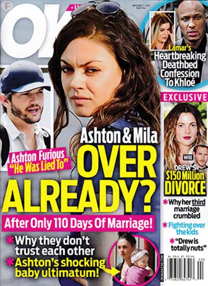 Ashton Kutcher y Mila Kunis terminan? [OK]