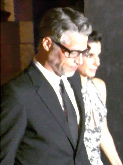 Sandra Bullock y Bryan Randall en la red carpet