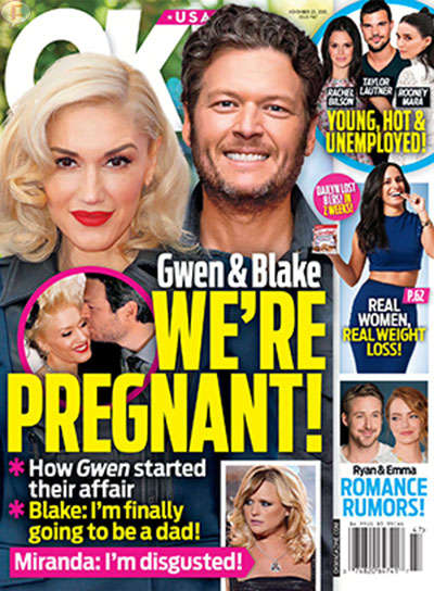 Gwen Stefani embarazada de Blake Shelton? [OK]