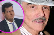 Burt Reynolds: Charlie Sheen merece ser VIH