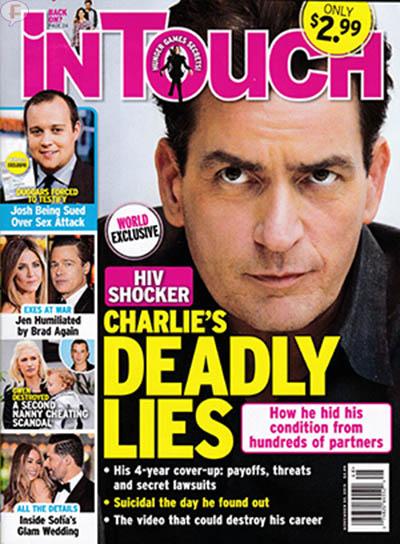 Charlie Sheen VIH Positivo: Mentiras Mortales [InTouch]