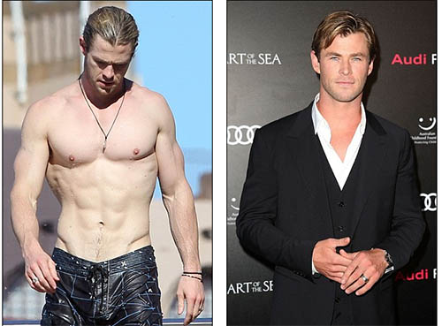 Chris Hemsworth perdió 15 kilos