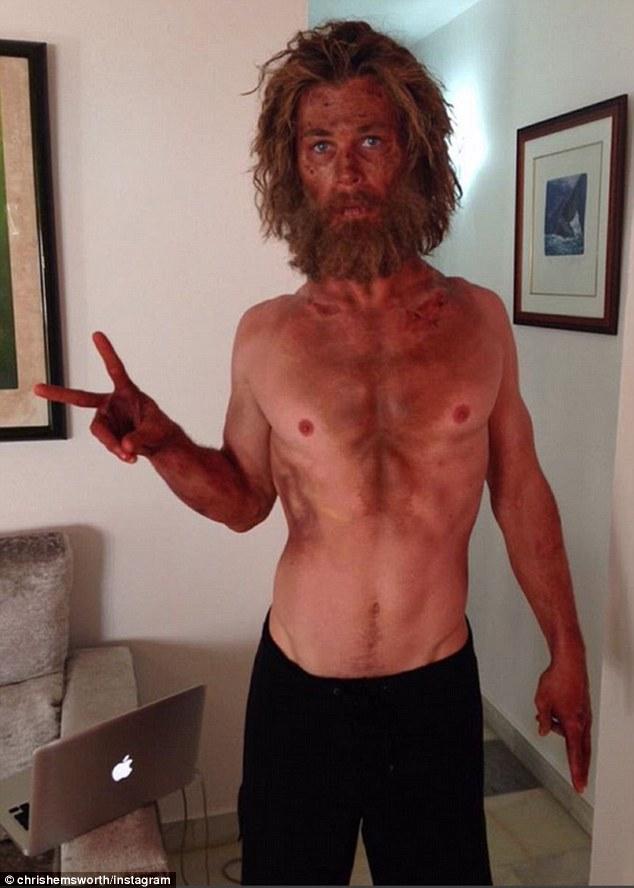Chris Hemsworth perdió 15 kilos