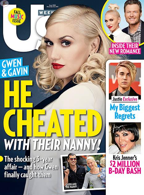Gavin Rossdale fue infiel con la nanny [Us]