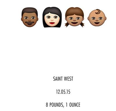 Kim Kardashian llamó a su hijo Saint West!! WHAT?