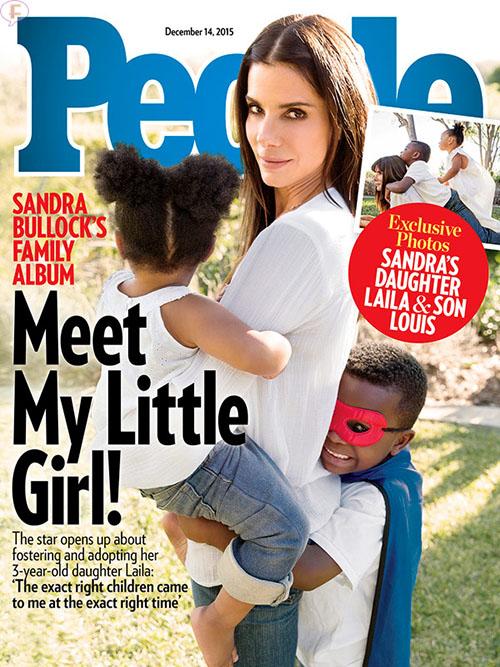 Sandra Bullock adoptó a una niña, Laila! [People]