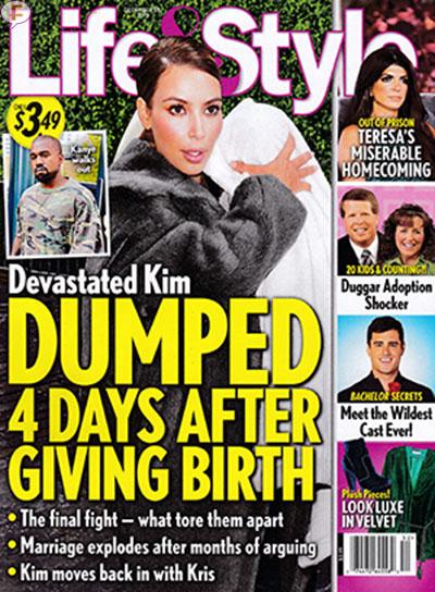 Kim Kardashian abandonada 4 dias despues del parto! [L&S]