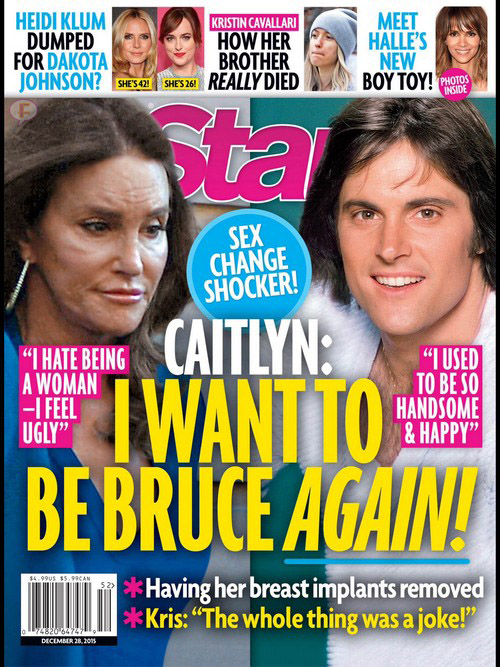 Caitlyn Jenner quiere volver a ser Bruce! [Star]