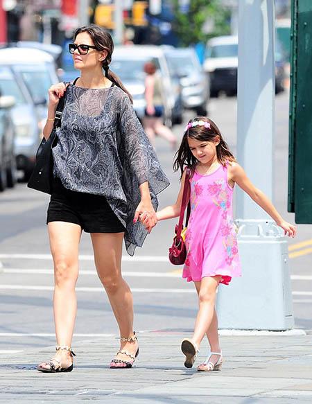 Katie Holmes y Jamie Foxx juntos con sus hijas