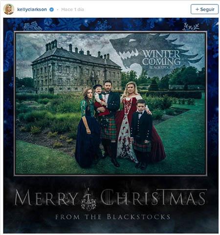 Tarjeta de Navidad de Kelly Clarkson Games Of Thrones