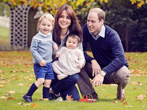 Feliz Navidad de la Princesa Charlotte y el Principe George