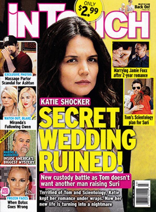 La boda secreta de Katie Holmes arruinada! [InTouch]