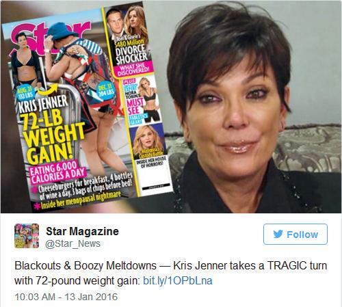 Kris Jenner subió 32 kilos!! FATASS!!! [Star]