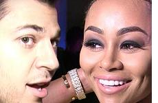 Rob Kardashian feliz con Blac Chyna!