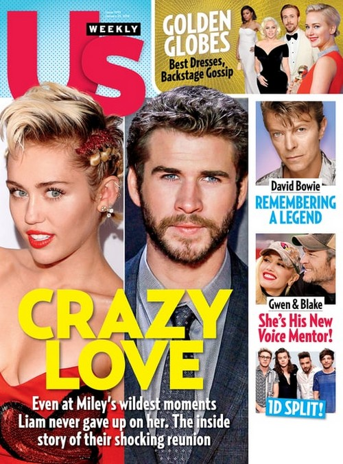 Miley Cyrus, Liam Hemsworth Enamorados! Crazy Love [Us]