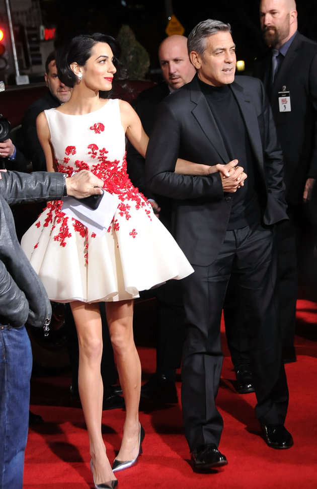 George Clooney y Amal en la Premier de Hail-Caesar!