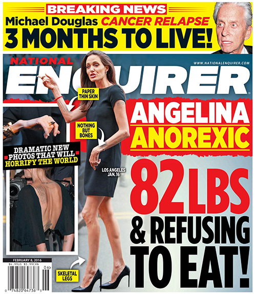 Angelina Jolie Anorexica! Se niega a comer! [Enquirer]