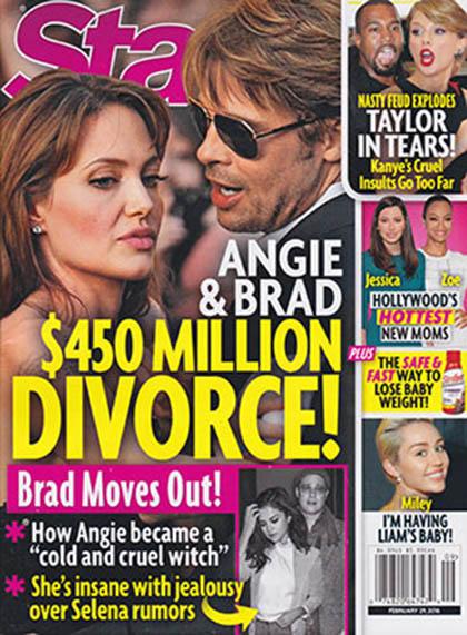 Angelina & Brad se divorcian por Selena Gomez WTF? [Star]