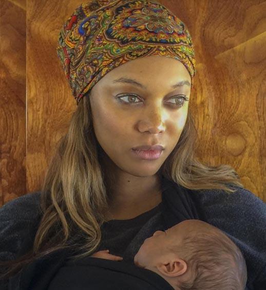 Tyra Banks con su hijo York - PIC!