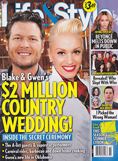 Gwen & Blake: Boda de 2 millones!! [Life&Style]