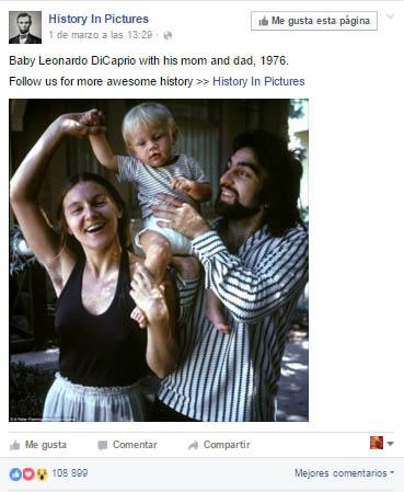 Foto de Leonardo DiCaprio bebé causa controversia. WTF?