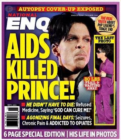 Prince pesaba 36 kilos y tenía SIDA? NATIONAL ENQUIRER