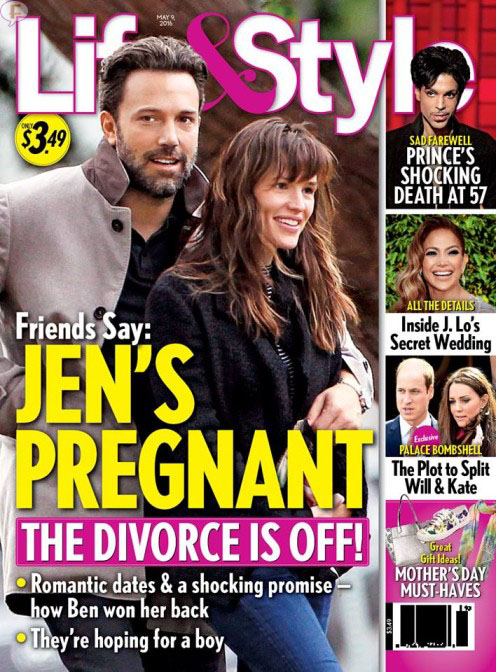 Jen Garner embarazada - Divorcio cancelado - dicen!