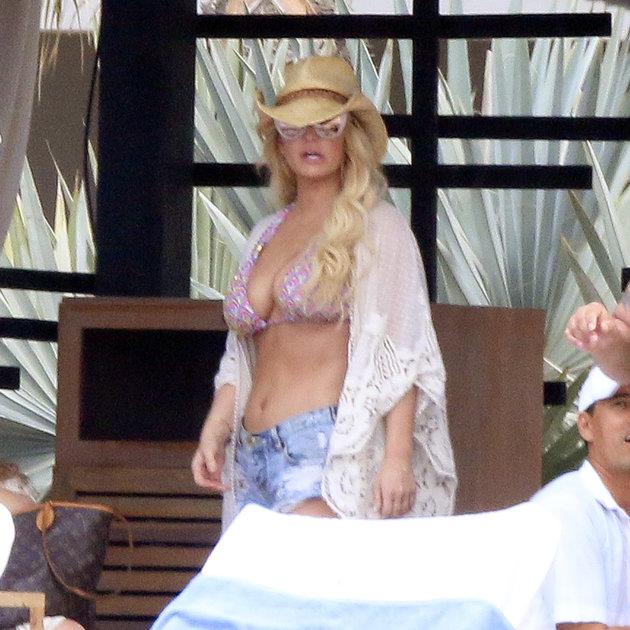 Jessica Simpson en bikini en Los Cabos