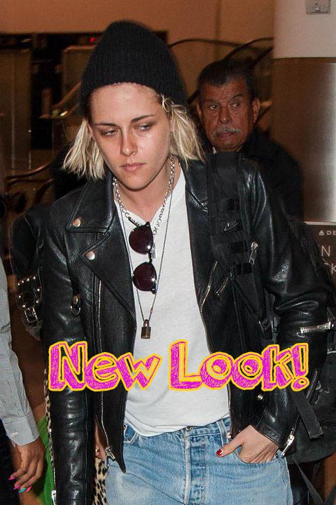 Kristen Stewart rubia platinada! New Look!