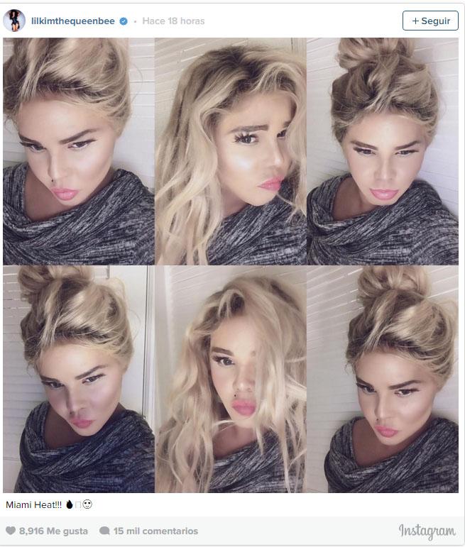 Lil Kim blanca y rubia en Instagram - WTF?