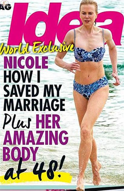 Nicole Kidman en Bikini - salva su matrimonio?