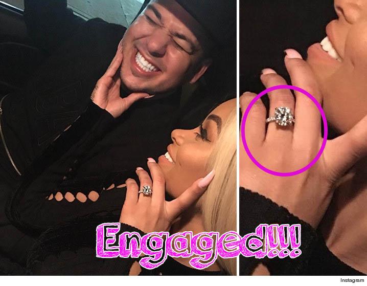 Rob Kardashian y Blac Chyna COMPROMETIDOS! Vean el anillo!