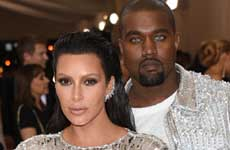 Kim Kardashian & Kanye West en el Met Gala 2016