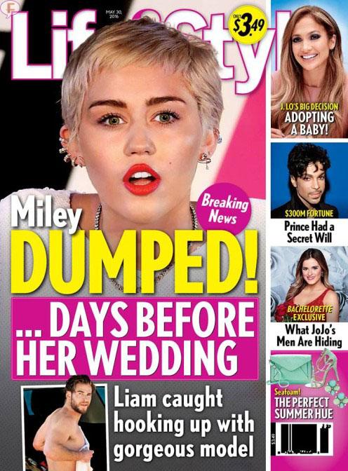 Miley Cyrus abandonada dias antes de su boda! [L&S]