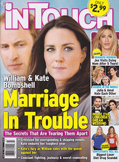 El matrimonio del Principe William y Kate en problemas [InTouch]