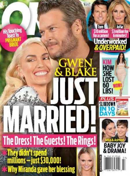 Gwen Stefani y Blake Shelton Casados! [OK!]