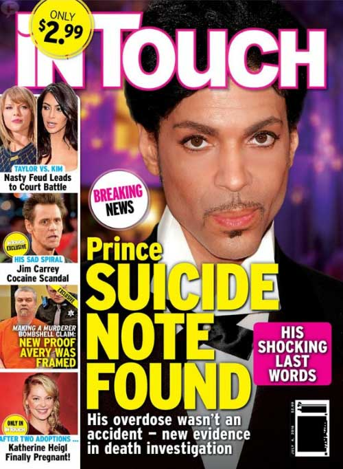 Encontraron nota de suicidio de Prince? [InTouch]