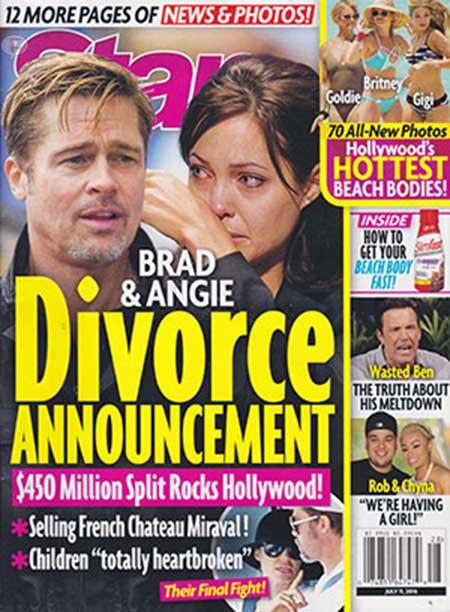 Angelina Jolie y Brad Pitt anuncio de divorcio! [Star] Que noooo!!