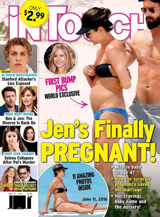 Jennifer Aniston embarazada finalmente! [InTouch]