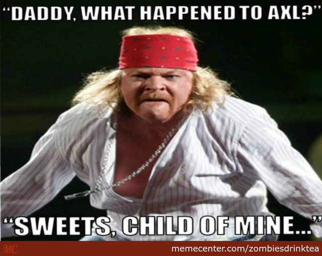 Axl Rose exige a Google que borre sus memes Fat Axl Rose