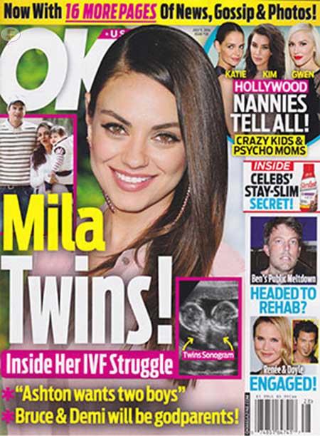 Mila Kunis embarazada de gemelos!! [OK!]