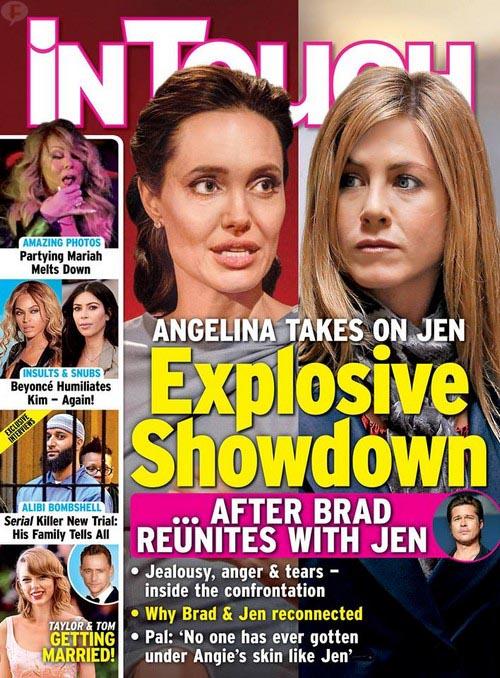 Angelina Jolie y Jennifer Aniston se pelean! [InTouch]